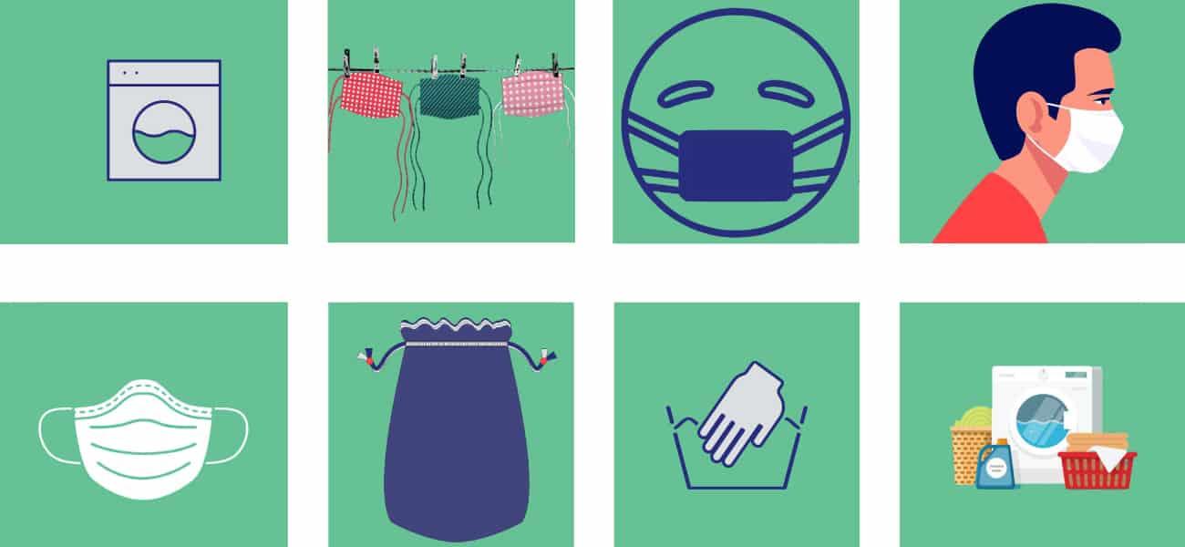 sanitising of reusable facemasks